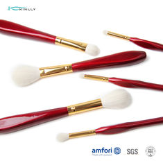 OEM Red Goat Hair 6PCS Cosmetic Makeup Brush Set