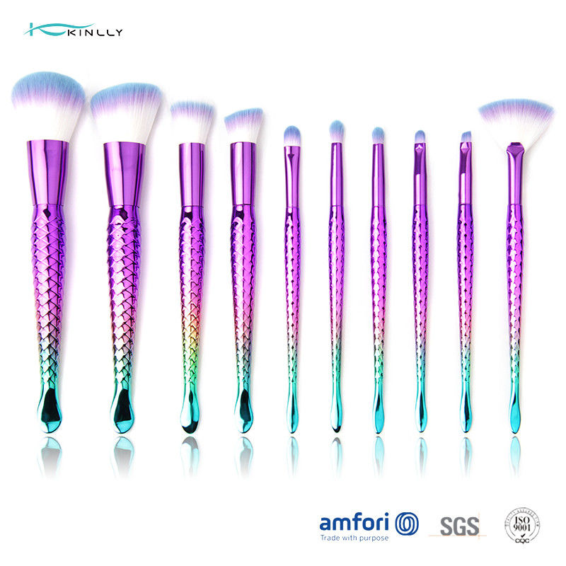 Mermaid Tail Purple Ferrule Synthetic Hair Makeup Brush